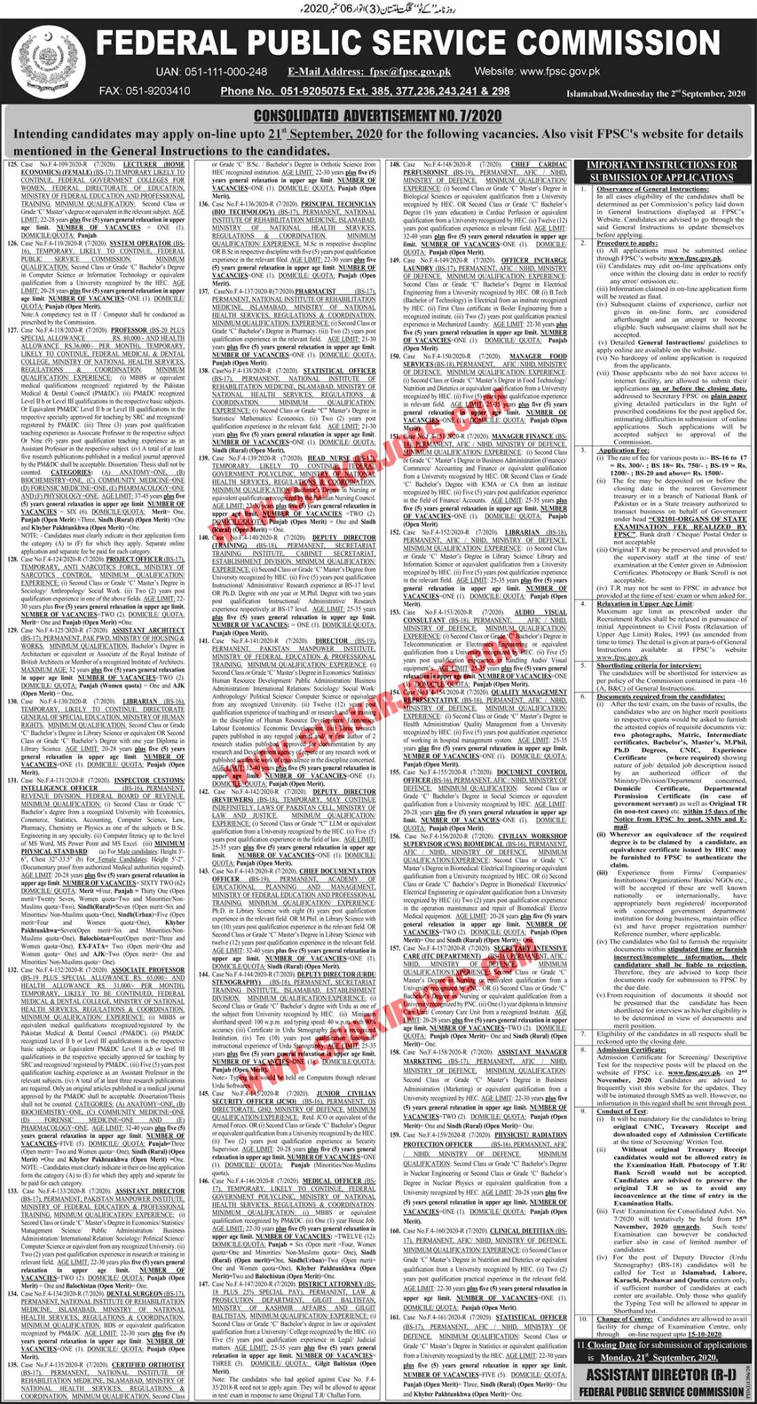 Jobs in Federal Board of Revenue FBR Jobs September 2020 (362 Posts)