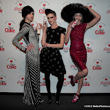WWW.ENTSIMAGES.COM -  Models Eliza Cummings, Lily McMenamy and Ginta Lapina  at   Diet Coke & Marc Jacobs - launch party at The German Gymnasium, 26 Pancras Road, London March 11th 2013                                        Photo Mobis Photos/OIC 0203 174 1069