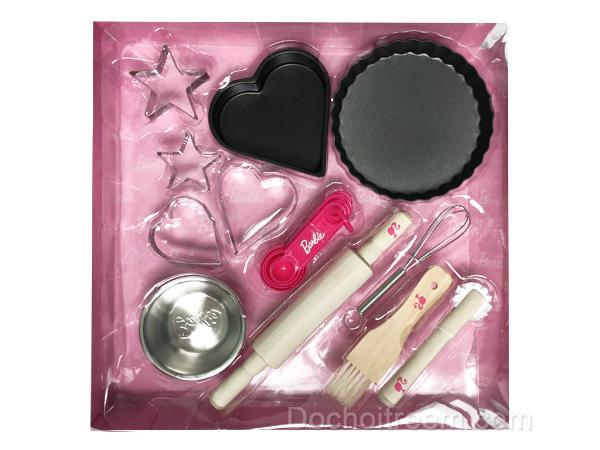Bộ dụng cụ làm bánh Barbie 16 món