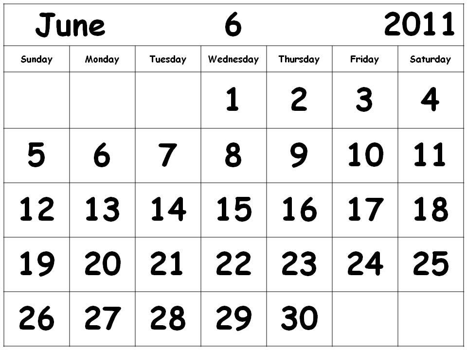 june 2011 calendar printable free. Printable Free Calendar 2011 -