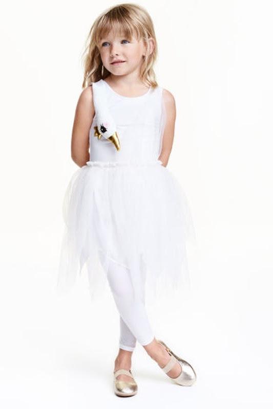 costume di carnevale da cigno bianco