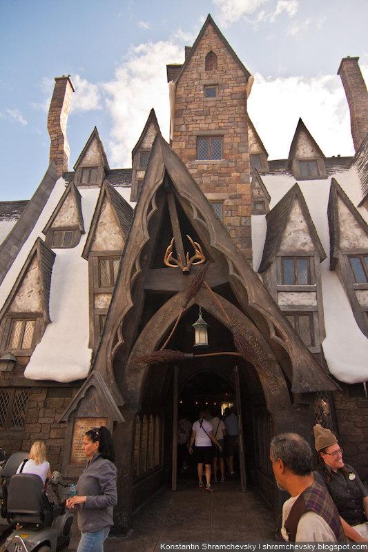 USA Florida Orlando Universal Studios The Wizarding World of Harry Potter Theme Park США Флорида Орландо Юнивёрсал Студиос Волшебный Мир Гарри Поттера Парк Аттракционов Три Метлы Кабанья Голова