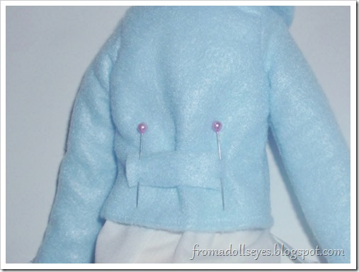 Cute felt coats for MSD and Yosd sized ball jointed dolls.