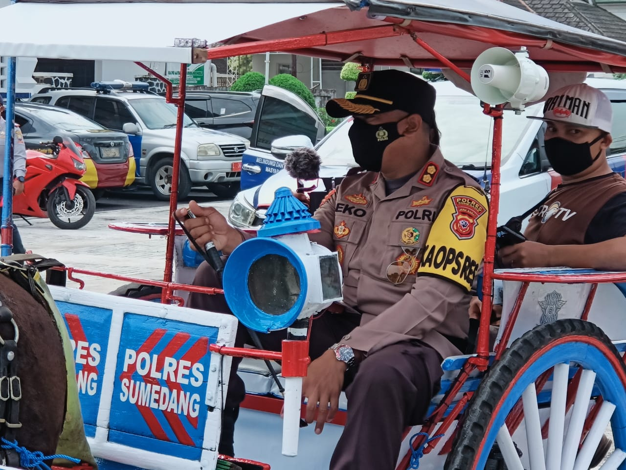 Lounching Delman Prokes Di Wilkum Polres Sumedang Polda Jabar