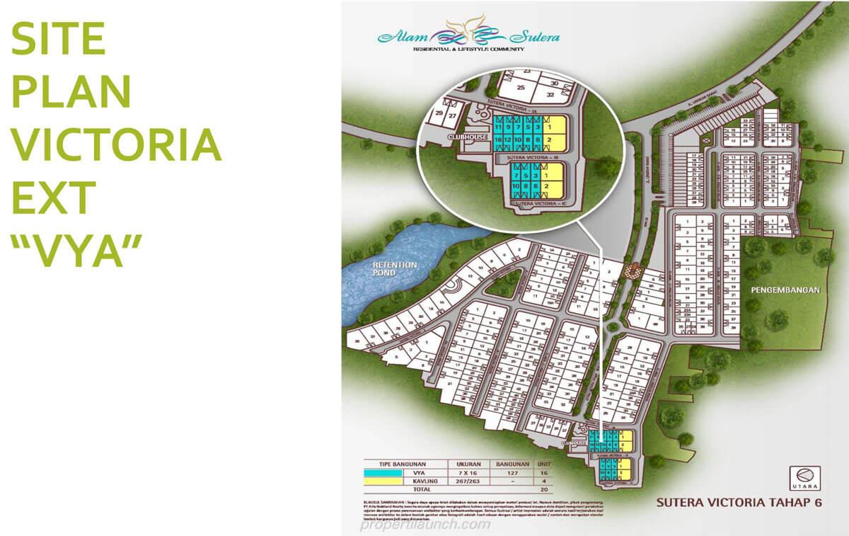 Siteplan VYA Sutera Victoria Alam Sutera