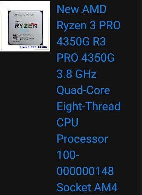 Ryzen 3 PRO 4350G CPU