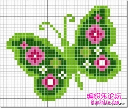 mariposas punto de cruz (8)