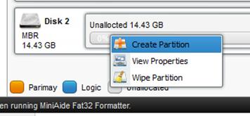 Create partition