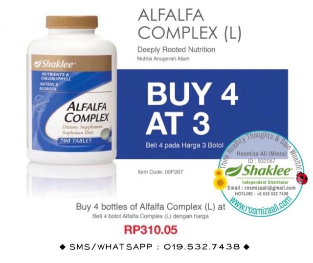 Promosi Alfalfa Shaklee, Promosi Shaklee Bulan November 2016