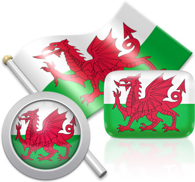 Welsh flag icons pictures collection