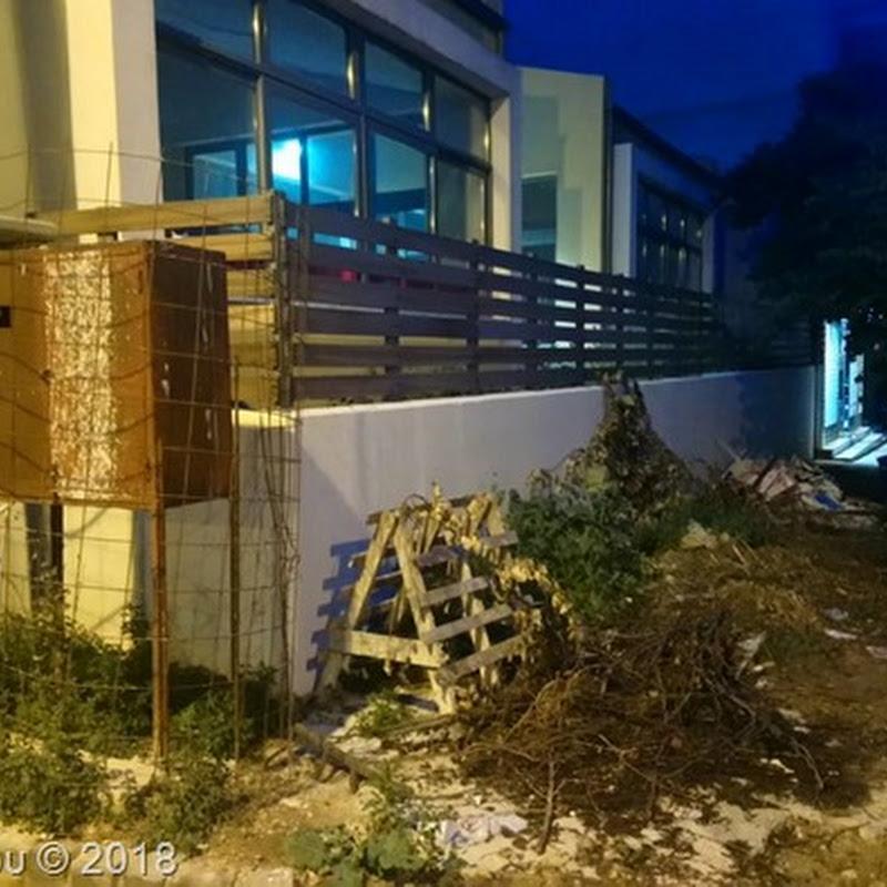 Παγίδα στο σκοτάδι τα μπάζα σε πεζοδρόμιο της Θεσσαλονίκης