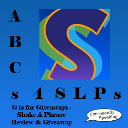 ABCs 4 SLPs: G is for Giveaways - Shake-A-Phrase Review and Giveaway image