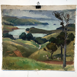 Alice F Whyte Signed Oil Landscape