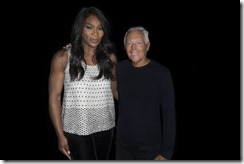 Giorgio Armani e Serena Williams - SGP