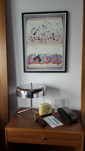 in-room art. Art and Luxury: Where to stay in Columbus, Ohio - Le Méridien Columbus, The Joseph