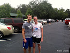 Post-race picture of Mike and I in the parking lot. We were worried about thunderstorms in the forecast, so I left my phone (and therefore my camera) in the car for this race and didn't take any additional pictures.