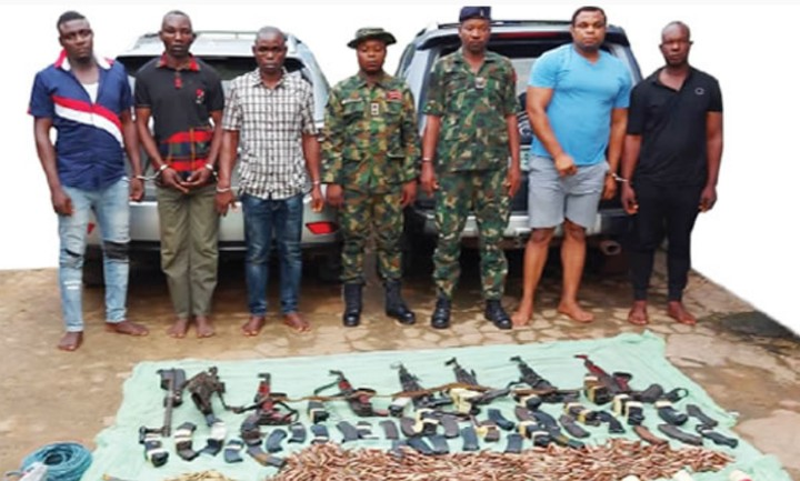 Ex-soldiers, Others Arrested For Robbery ( See Photos)