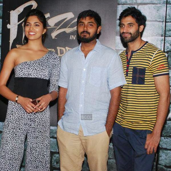 Parvathy Omanakuttan, Akshay Akkineni and Akshay Oberoi during the promotion of Bollywood movie Pizza 3D, held at Malad, on July 11, 2014.(Pic: Viral Bhayani)