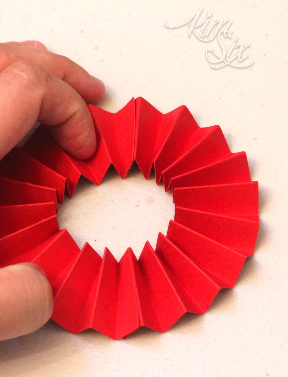 Cricut folded paper medallion