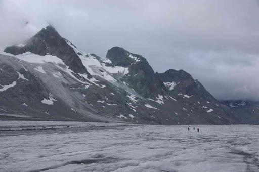 Sur le glacier d'Otemma