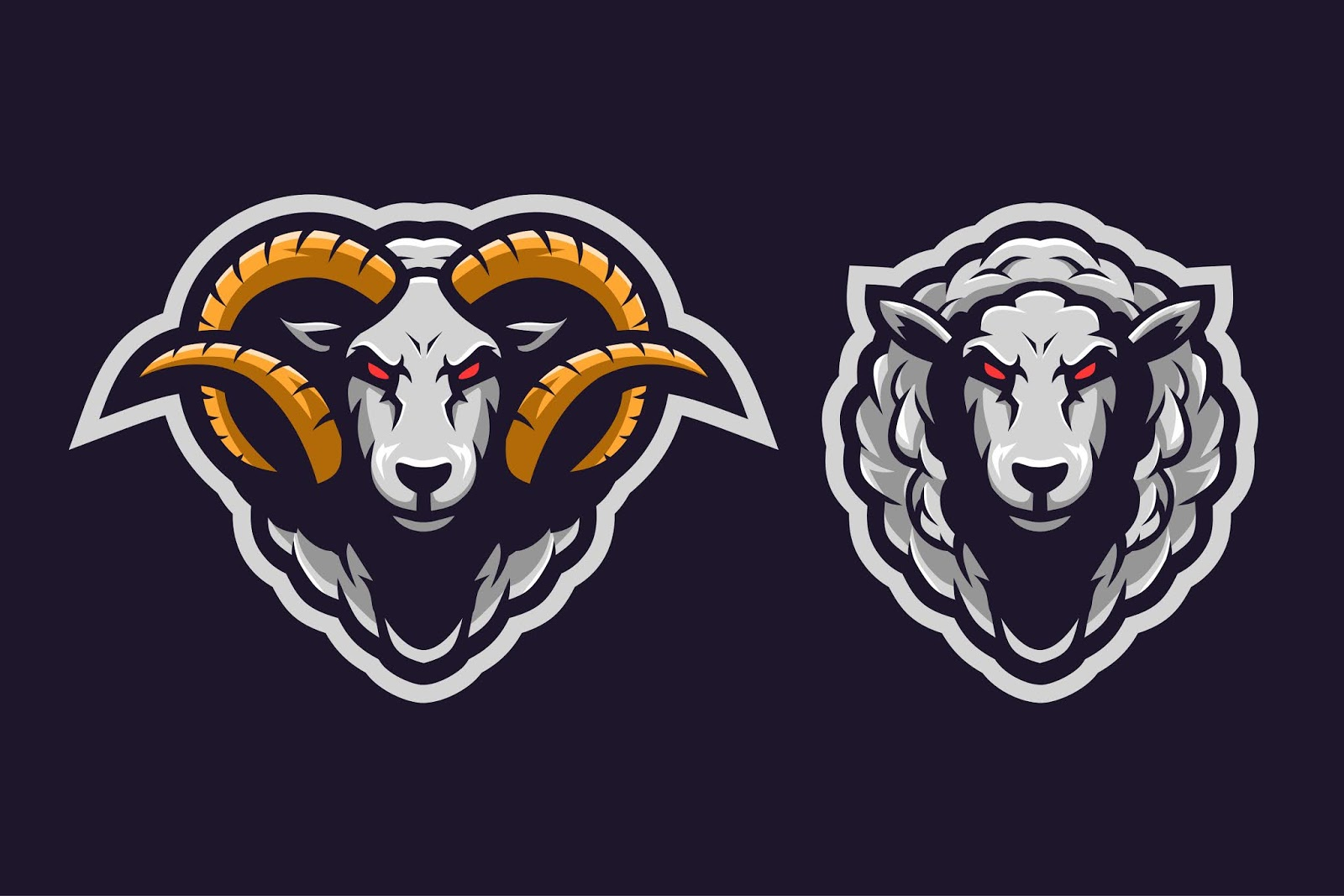 Sheep Mascot Logo Free Download Vector CDR, AI, EPS and PNG Formats