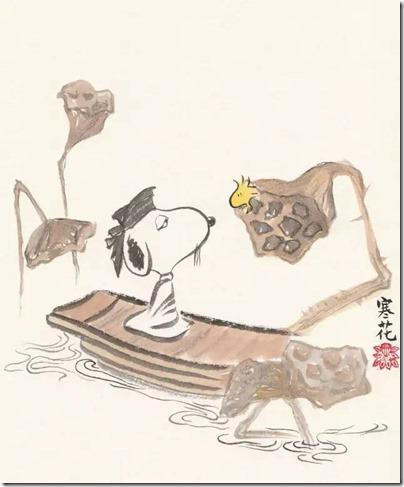 Peanuts X China Chic by froidrosarouge 花生漫畫 中國風 by寒花 Spike 04