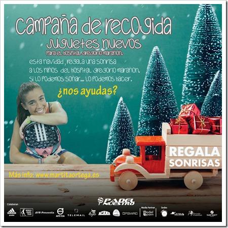 """Padel Nuestro se une a la campaña """"Regala Sonrisas"""", de Marta Ortega, para recoger juguetes para niños hospitalizados."""
