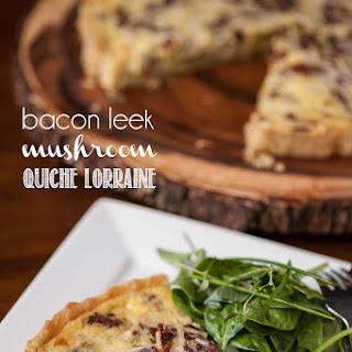 Bacon Leek Mushroom Quiche Lorraine