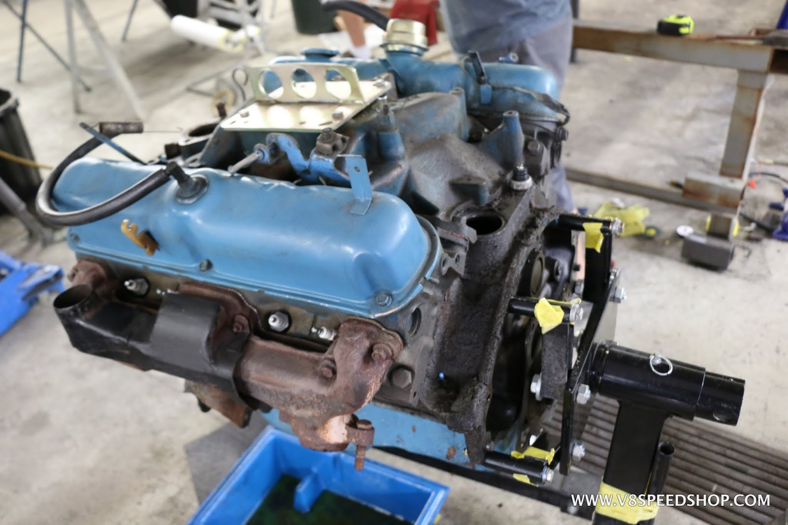1973 Plymouth 'Cuda Engine Bay Resto Thread at V8 Speed & Resto Shop
