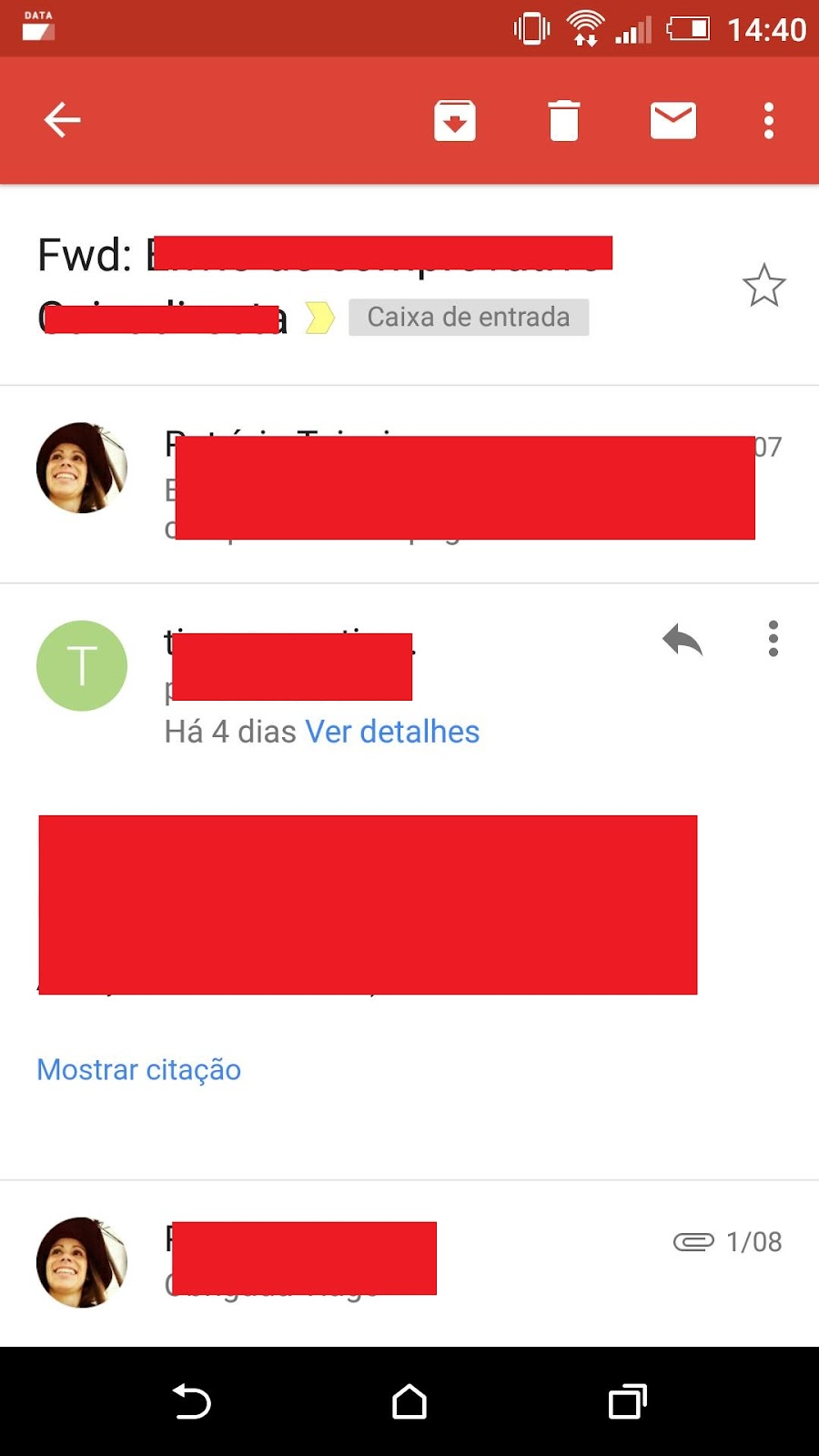 Profile Icons on Mails not showing in Gmail App for Android