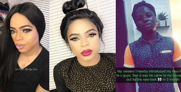After Firing Jacob…. Meet Bobrisky's New Gateman, Titus