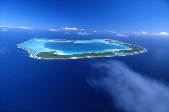 Playa de Tetiaroa en Tahití