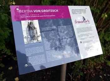 Gedenktafel Bertha von Groitzsch