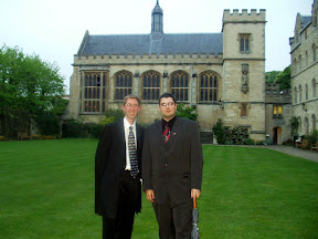 Patrick and I outside Hall in Pembroke College