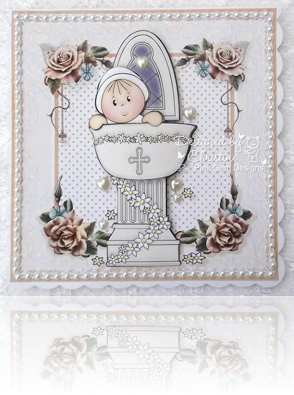 PG Christening heart pearls