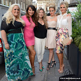WWW.ENTSIMAGES.COM - Lizzie Cundy and cast of WAGS The Musical    at     Next Stop LAX - launch party at Retro Feasts, 29 Old Burlington Street, London, W1S 3AN, July 09th 2013                                                Photo Mobis Photos/OIC 0203 174 1069