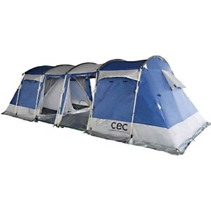 Capricorn 8 Person X Large Family Camping Tent With Bonus Camp Guides