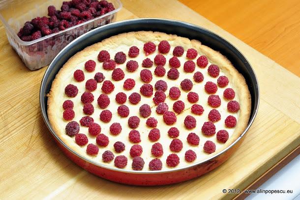 aluat de tarta cu zmeura