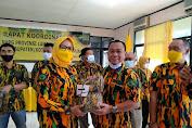 Rakor, Ketua AMPG Provinsi Lampung Aprozi Alam Berikan Bantuan Seragam ke Pengurus Kabupaten/Kota
