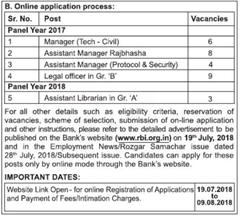 RBI Notification 2018 www.indgovtjobs.in