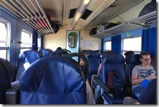 L'interno del treno ALn 668