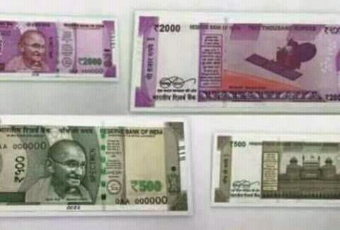 Mangal rocket photo in new 2000 Currency notes