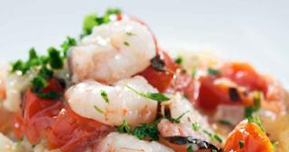 Γαρίδες Ψητές,Grilled shrimp.