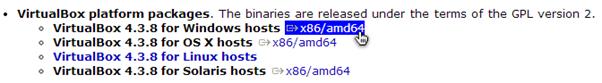 Download VirtualBox for Windows Hosts