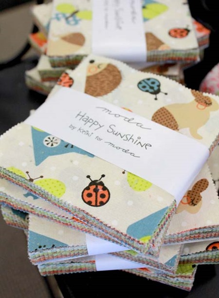 Happy Sunshine charm packs at the Fabric Mill
