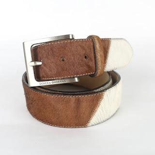 Dolce & Gabbana Calf Hair Belt