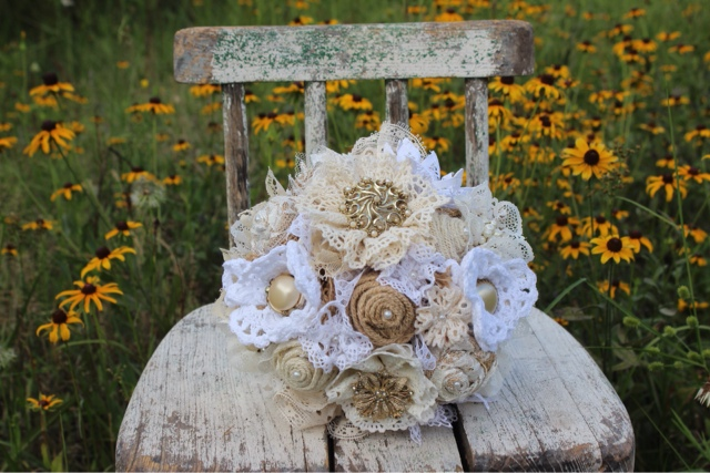 Vintage Lace Flower Bridal Bouquet