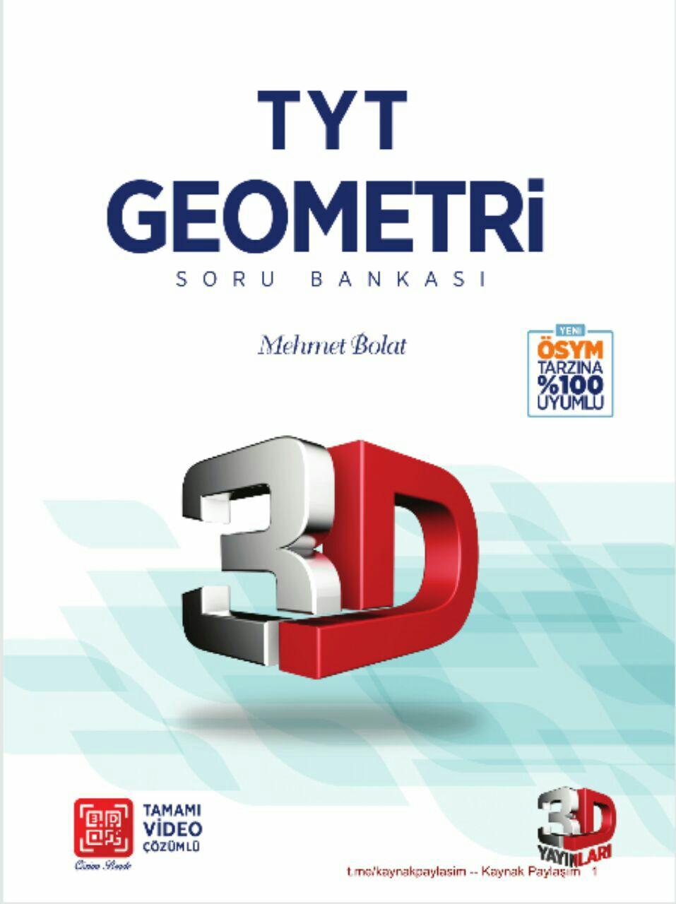 3D Yayınları TYT Geometri Soru Bankası 2019-2020