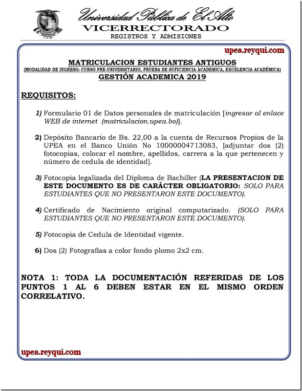 matriculacion-estudiantes-antiguos-la-upea-2019