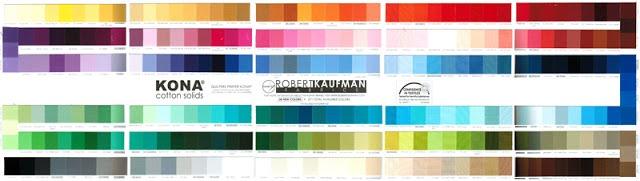 Kona Cotton Solids Color Card